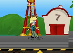 Johnny Test Cursa cu Skateboard-ul