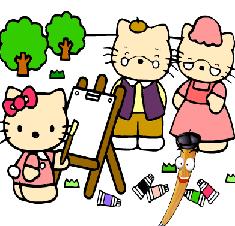 Hello Kitty de Colorat