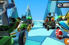 Cartoon Formula 1 Cursa 3D