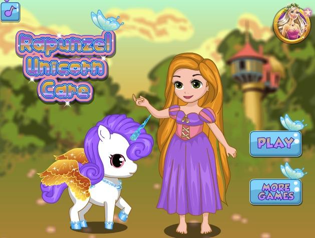 Rapunzel Ingrijeste Unicornul
