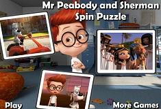 Peabody si Sherman Puzzle Rotativ
