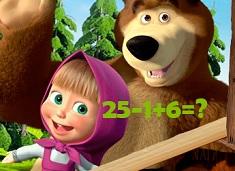 Masha si Ursul Test de Matematica