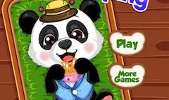 Ursuletul Panda la Cumparaturi