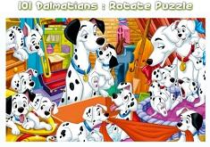 101 Dalmatieni Puzzle Rotund