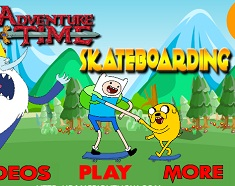 Finn si Jake cu Skateboardul