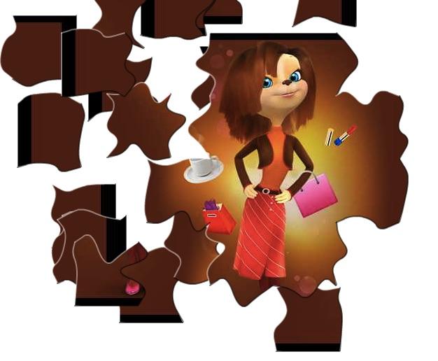 Puzzle cu Mom