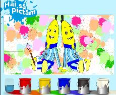 Banane in Pijamale de Colorat