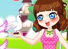 Fata cu Porumbei