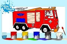 Pompierul Sam de Colorat