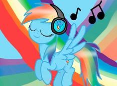Rainbow Dash Asculta Muzica