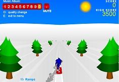 Sonic x cu Snowboardul