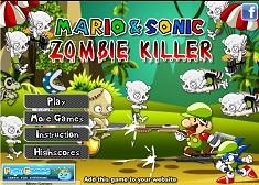 Sonic si Mario VS Zombie