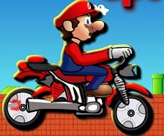Super Mario cu Motocicleta de Viteza