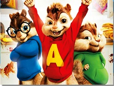 Alvin si Veveritele Fericite Puzzle