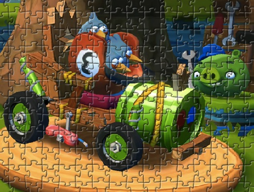 Angry Birds Blue Puzzle