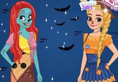 Ariel si Rapunzel Concurs de Halloween