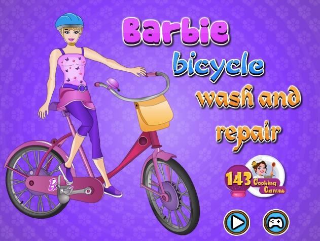 Barbie Spala si Repara Bicicleta…