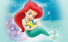 Bebelusa Ariel si Flounder Puzzle