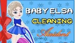 Bebelusa Elsa Accident la Curatenie