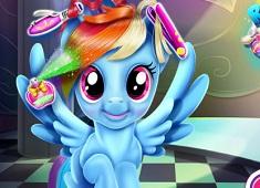 Bebelusa Rainbow Dash Coafuri Reale