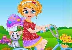 Bebelusa Sana cu Bicicleta