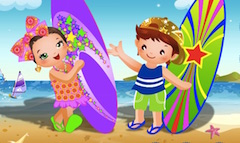 Bebelusi Draguti la Plaja