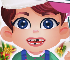 Bebelusul Karl la Dentist