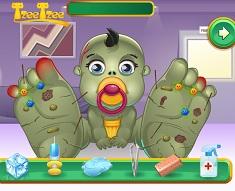 Bebelusul Zombie Ranit la Picior