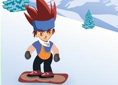 Beyblade Gingka cu Snowboardul
