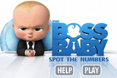 Boss Baby Numere Ascunse