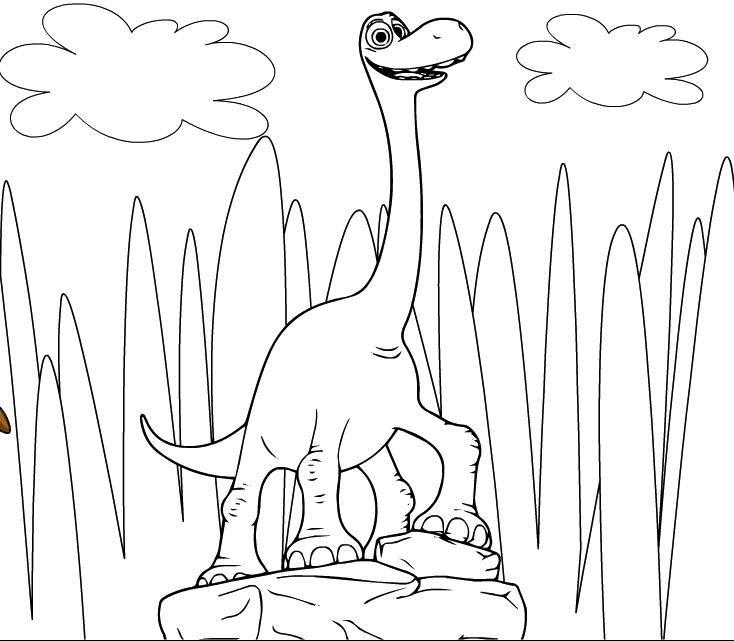 Bunul Dinozaur Arlo de Colorat