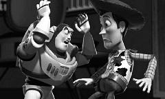 Buzz si Woody Puzzle Alb Negru