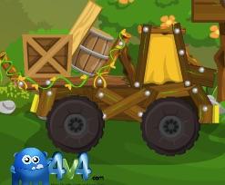 Camioane in Padure