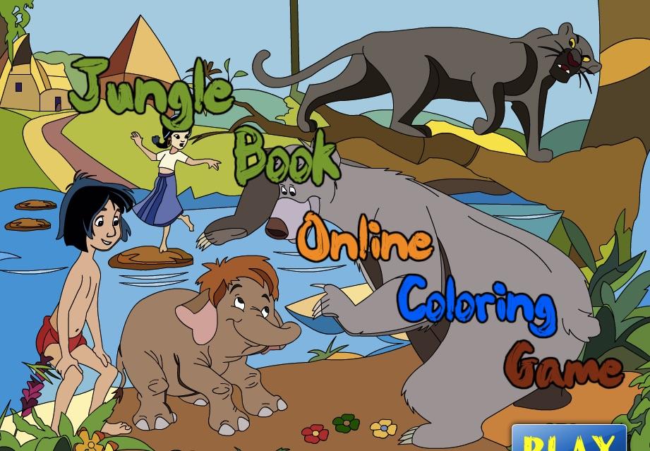 Cartea Junglei de Colorat