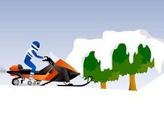 Cascadorul cu Snowmobilul