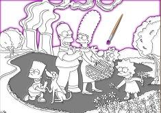 Colorat cu Familia Simpson