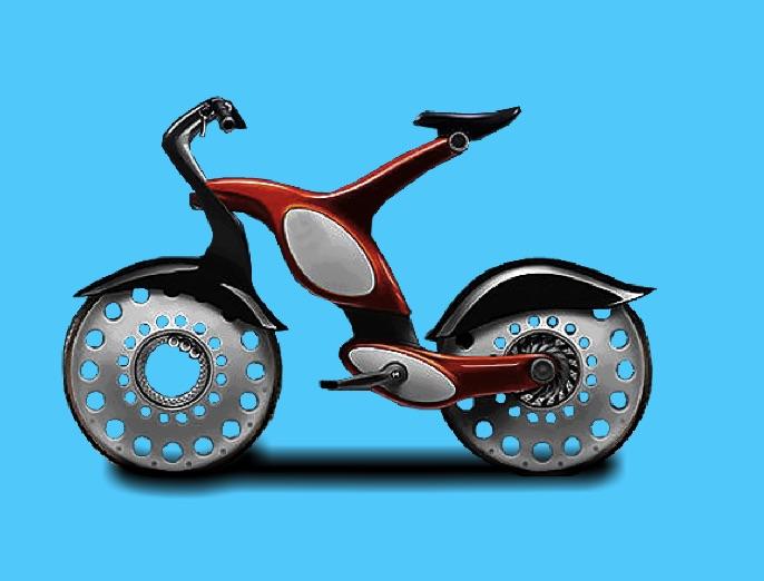 Colorati Bicicleta Moderna