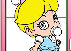 Coloreaza Bebelusa Printesa Piersica…
