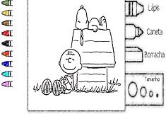 Coloreaza cu Snoopy si Charlie