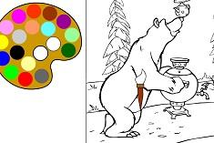 Coloreaza Ursul cu Ceaiul