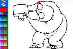 Coloreaza Ursul si Masha