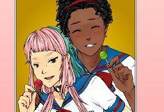Creeaza Tabloul cu Cuplul Anime