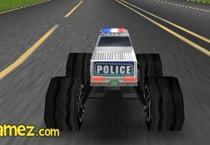 Curse 3D cu Monster Truck al Politiei