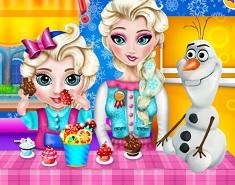 Elsa Bebelus Mananca Prajiturile