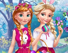 Elsa si Ana Distractia de Paste