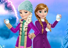 Elsa si Ana Distractie de Iarna