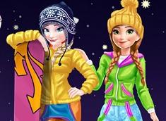 Elsa si Ana Vacanta de Iarna