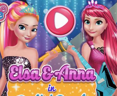 Elsa si Anna in Rockeri si Roiali