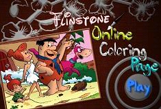 Familia Flinstone de Colorat
