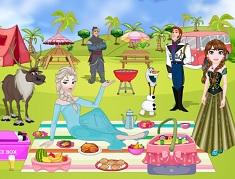 Familia Frozen la Picnic de Decorat